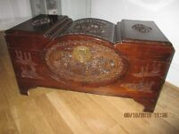 CHINESE CARVED CAMPHOR WOOD CHEST
