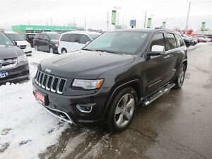 2014 Jeep Grand Cherokee Overland - EcoDiesel  4x4  leather  GPS