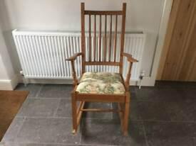 Vintage Hardwood Rocking Chair