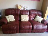 reclainer sofa and two armchair