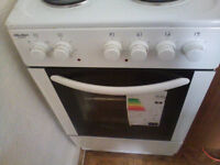 New cooker, freestanding white, never used for sale. Price negotiable