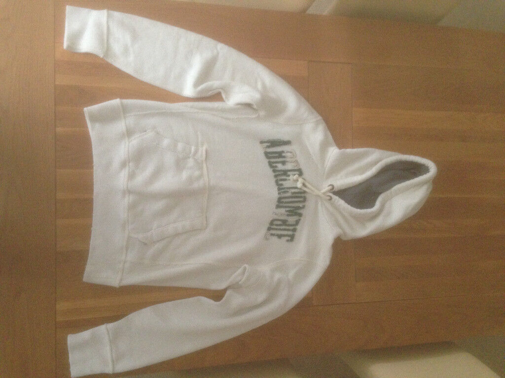 Abercrombie & Fitch Men's Heavyweight Cream Hoodie (Medium)