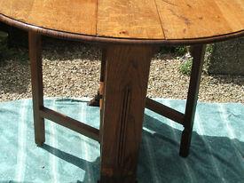 art deco oak gate leg table