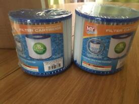 2 Swimming Pool Pump Filters size D new and sealed