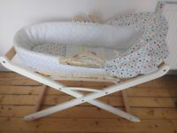 Like new Mothercare Moses basket and stand