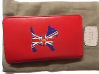 Nearly new bright red Radley purse