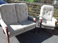 2 x Seater Highback sofa and Chair From HSL Like New Condition FREE delivery