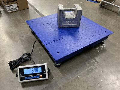 Ntep 1000 Lb 0.2 Lb 2x2 Heavy Duty Floor Scale Industrial Warehouse