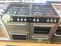 NEW WORLD 100CM WIDE DOUBLE OVEN RANGE GAS COOKER