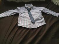 Bluezoo Boys Shirt & Detachable Tie Age 2-3 years