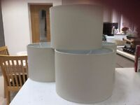 Four New Beige Lampshades