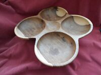 wood serving platter unused perfect on the table
