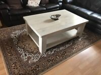 Large solid oak coffee table from next, some wear and tear