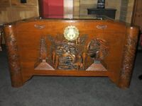 Carved wooden/camphor chest/blanket box