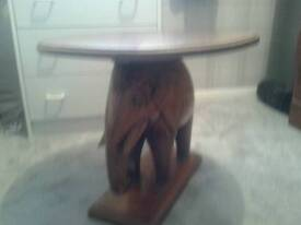 Beautiful mahogany coffee table made in Africa beautifully carved elephant support