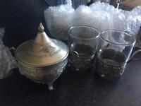 Silver Iranian chai set