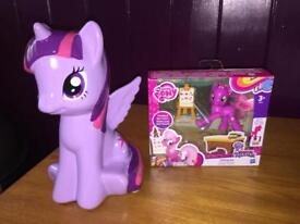 My Little Pony set - ceramic money box and toy figurine