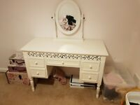Matching Set of White Bedside Table, Dresser and Chest of Drawers