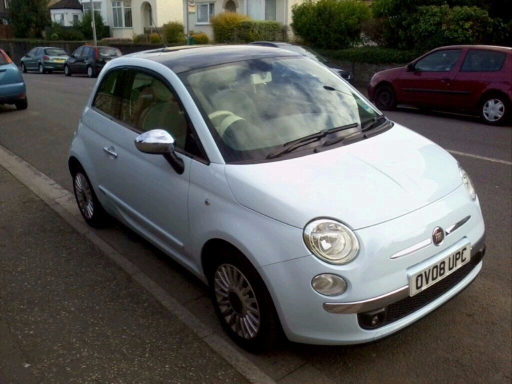 *REDUCED* Fiat 500 1.3 Multijet Lounge - Diesel - Rare Casanova Blue - Panoramic Glass Roof