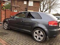 Audi A3 2.0 TDI Sport Grey 2005 £1,700 LOW MILEAGE, CAM-BELT CHANGED