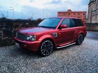 Range Rover sport 2.7 diesel 22 inch alloys cream leather Rimini red service history