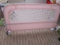 Mothercare Bed Guard Pink - Excellent Condition