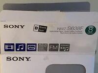 Black Sony Walkman 8GB MP3 Player, boxed