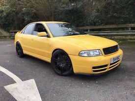 AUDI S4 B5 IMOLA YELLOW 462 BHP 688 NM DYNO RS6 TURBOS RS4 EXTRAS H&R COILOVERS!