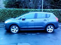 PEUGEOT 3008 CROSSOVER 2010 1.6 THP SPORT, 56859 MILES, 6 SPEED MANUAL,IMMACULATE,ECONOMY £4995 ono