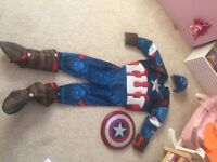 Marvel Captain America Costume age 7-8