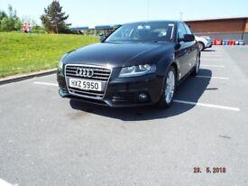 Audi A4 September 2011, panther black Audi service history, leather seats, sat nav, tow bar,