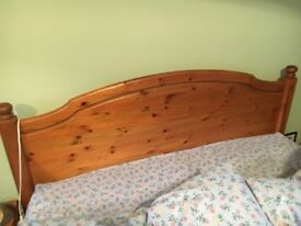 Ducal pine double bed in good condition. Collection only.