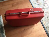 Red Vintage Samsonite suitcase