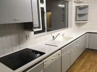 Kitchen for sale Corian worktops and frames, double oven, ceramic job. Removed ready to collect