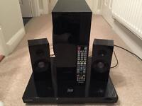 Samsung 3D blu ray player and surround sound system