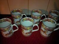 Set of 6 fine bone china cups