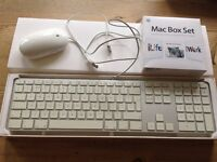 Spare apple iMac keyboard and mouse and software pack