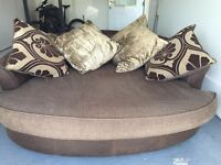 3 seater sofa with snuggle chair