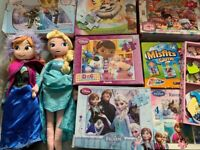 Bundle of toys: Dolls, Puzzles, Ludo game, Misfits game etc...