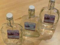 Sloe gin preserving bottles x3