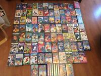 VHS TAPES - 86 + 3 BOX SETS - DISNEY, RUGRATS, HARRY POTTER, LITTLE MERMAID...