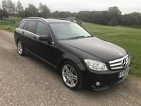 2010/10 MERCEDES-BENZ C CLASS C200 2.1 CDI SPORT ESTATE BLACK