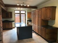 Country kitchen with quartz counter tops