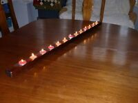 Oak tealight holder. Suitable for table /fireplace /outdoors