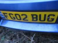 PRIVATE NUMBER PLATE FOR SALE FG02 BUG VERY SORT AFTER £500 FOR A QUICK SALE