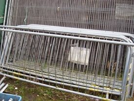 GALVANISED STEEL CROWD CONTROL BARRIERS - NORTH YORKSHIRE