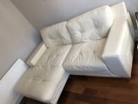 3 seater leather couch (L shape) and armchair