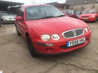 ROVER 25 II 16V RED PETROL 1588CC 108BHP LONG MOT NATIONWIDE DELIVERY **BARGAIN**