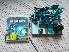 LEGO Dimensions Starter Pack PS3,3 LEGO Minifigures,Batmobile,video game
