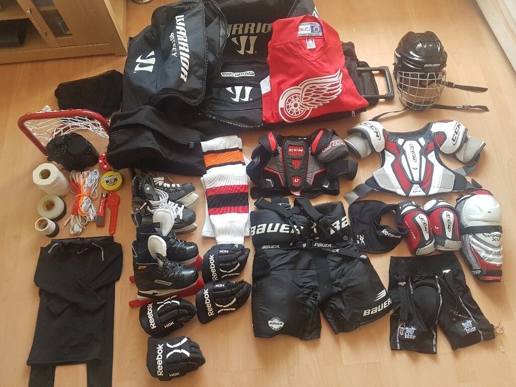 529807d6225 Full Junior Ice Hockey Kit and bag. Everything needed for Ice Hockey  beginner. Age 6-7